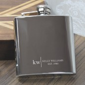 engraved name hip flask