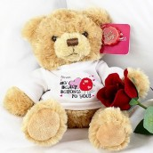personalised love teddy bear