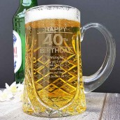 personalised crystal birthday tankard