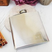 modern design engraved hip flask