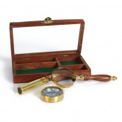 compass and telescope gift set