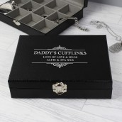 personalised cufflink storage box