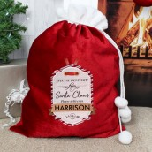personalised christamas toy sack