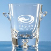 engraved glass ice bucket
