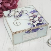 personalised glass butterfly trinket box