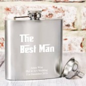 wedding hip flask engraved