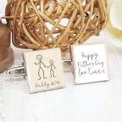 engraved dad cufflinks