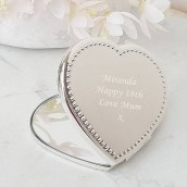 engraved compact mirror