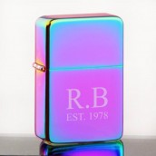 engraved rainbow lighter