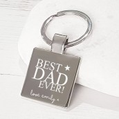 engraved dad keyring