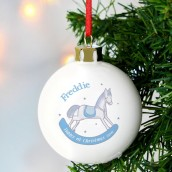Personalised 1st Christmas Rocking Horse Bauble