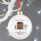 Personalised Bone China Bauble