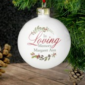 in loving memory bauble