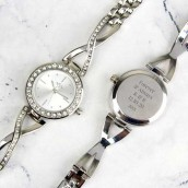 engraved ladies watch
