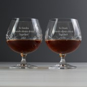 engraved brandy glasses set