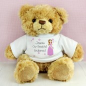personalised bridesmaid teddy bear