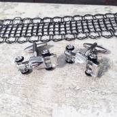engraved racing car cufflinks