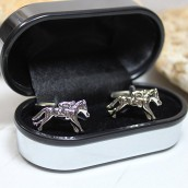 personalised racing horse cufflinks