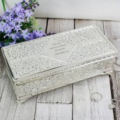 engraved silver jewellery box