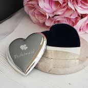 Enhraved Wedding heart trinket box