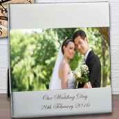 engraved 10x8 silver landscape photo frame