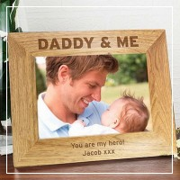 engraved photo frames wood