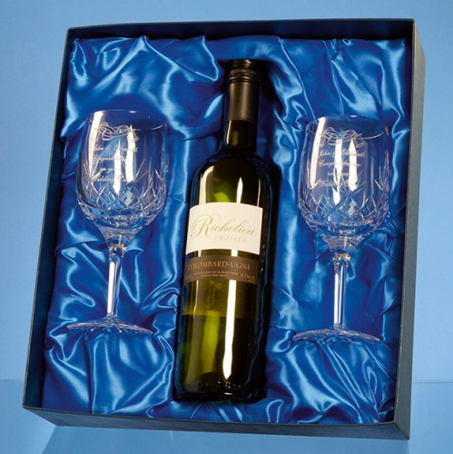 Lead Crystal Glasses Wine Gift Set