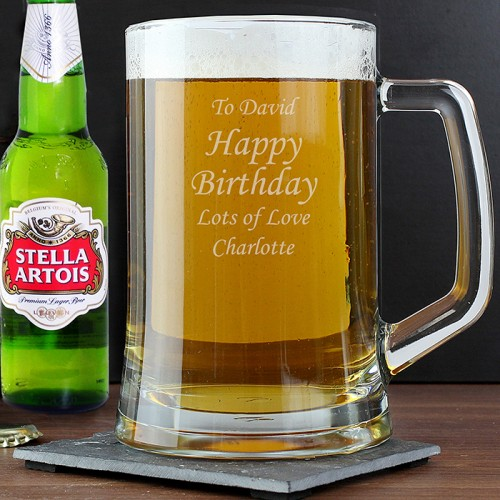 personalised tankard  u0026 beer gift set
