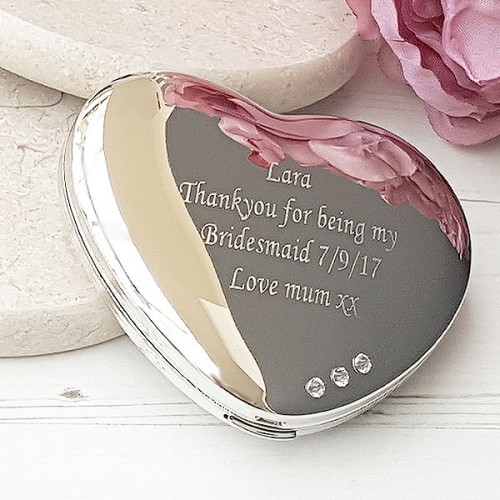 ff7109c93d6 Engraved Swarovski Heart Handbag Mirror