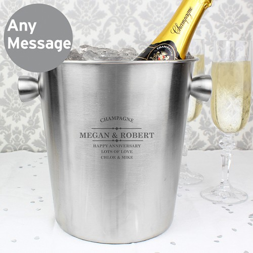Engraved Stainless Steel Ice Bucket