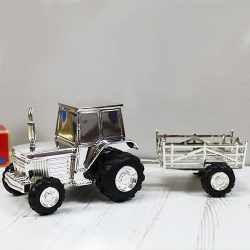 Personalised Tractor And Trailer Money Box